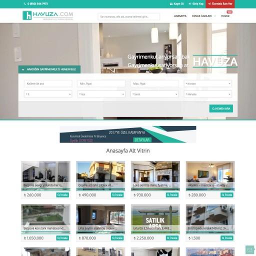 Havuza.com Emlak İlan Sitesi Projesi