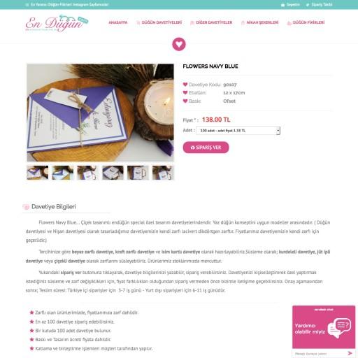 EnDüğün.com E-Ticaret Projesi