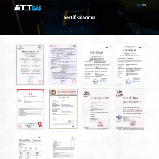 ETTGAS Uluslararası Kurumsal Websitesi