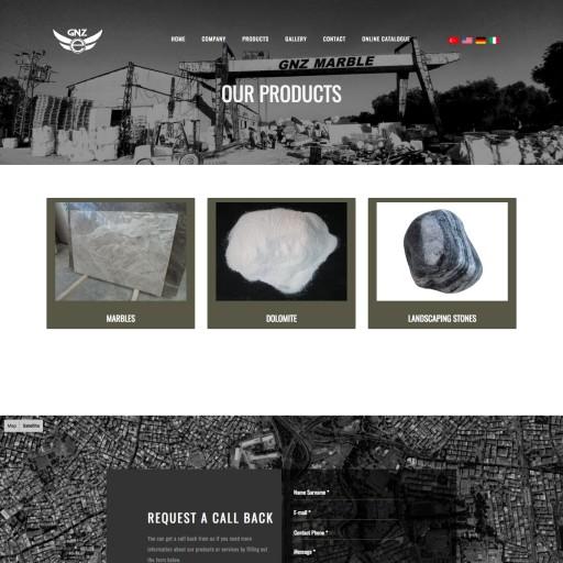 GNZ Marble Kurumsal Web Sitesi