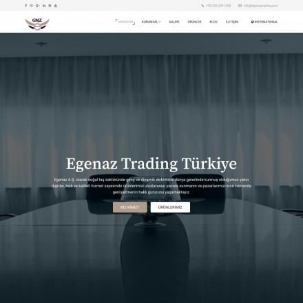 Egenaz Trading Kurumsal Web Sitesi