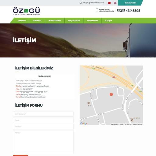 Öz-Gü Ağır Taşımacılık Websitesi