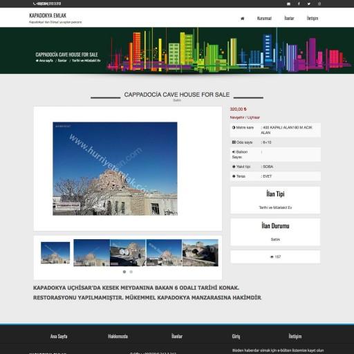 Kapadokya Emlak Listing Projesi