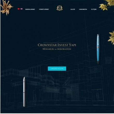 Crownstar Invest Yapı Kurumsal Web Sitesi