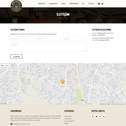 Agora Kahvecisi Kurumsal Web Sitesi