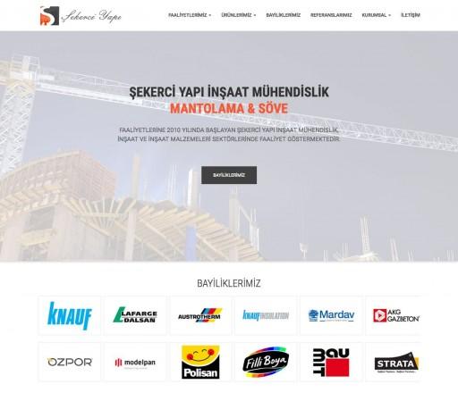 Şekerci Yapı Ltd. Şti. E-Ticaret Web Sitesi