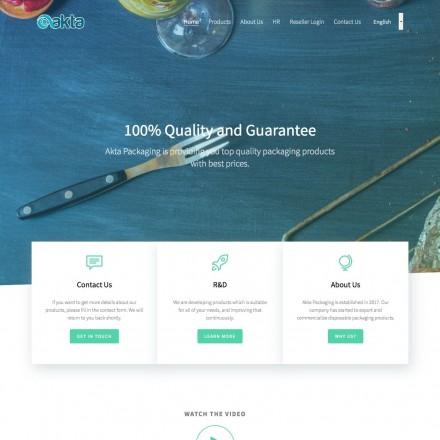 Akta Packaging Kurumsal Web Sitesi