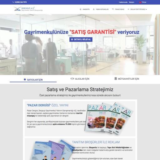 Dergrup Gayrimenkul Kurumsal Web Sitesi