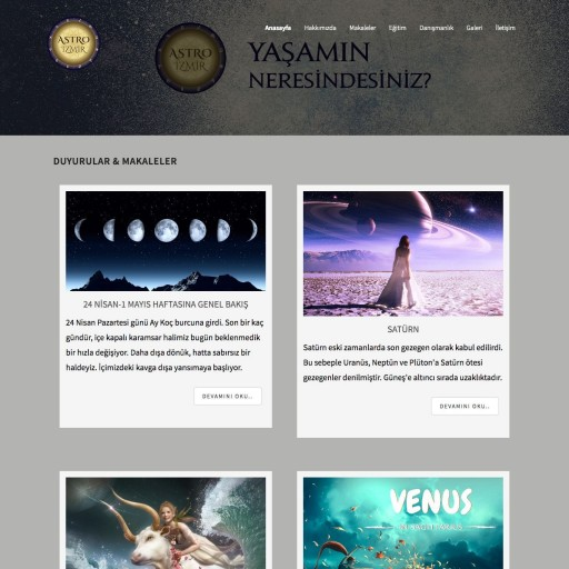 Astroizmir.com Kurumsal Web Sitesi