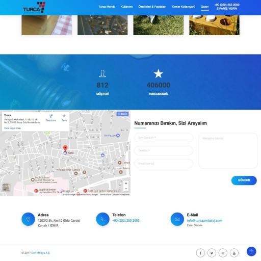 Turca Mendil Landing Page Tasarımı