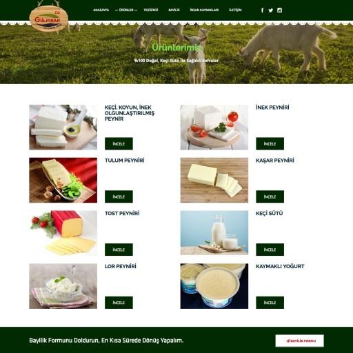 Gülpınar Süt Kurumsal Websitesi