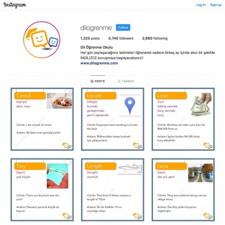 Dil Öğrenme Okulu Instagram