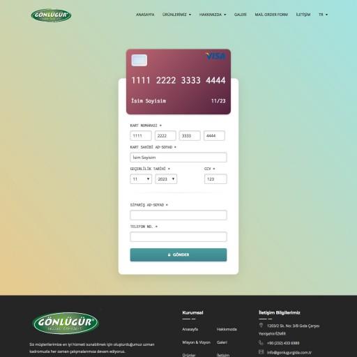 Gönlügür Gıda Uluslararası Kurumsal Websitesi