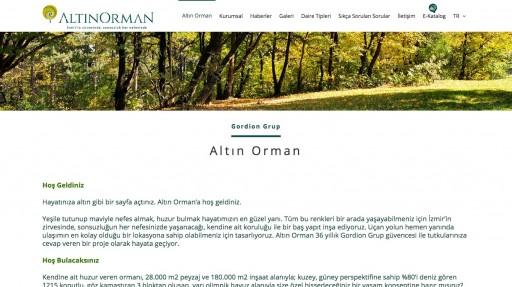 Altın Orman Kurumsal Websitesi