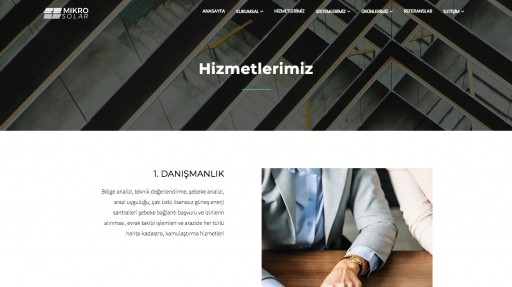 Mikro Solar A.Ş. Kurumsal Websitesi