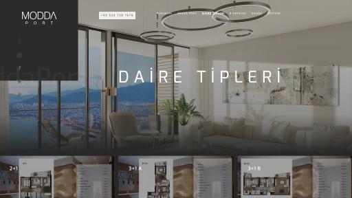 Modda Port İnşaat Projesi Websitesi
