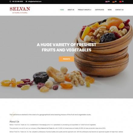 Selvan Food Kurumsal Web Sitesi