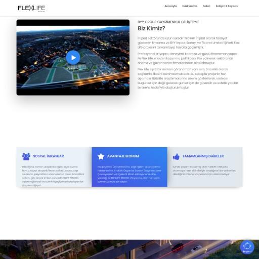 Flexlife Studio İnşaat Projesi Landing Page